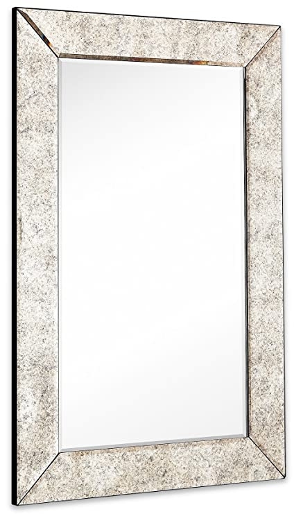 Amazoncom Large Antiqued Framed Wall Mirror 35 Inch Antique Frame