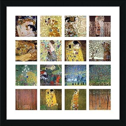 amazon com alonline art trees kiss flowers fan collage 16 gustav
