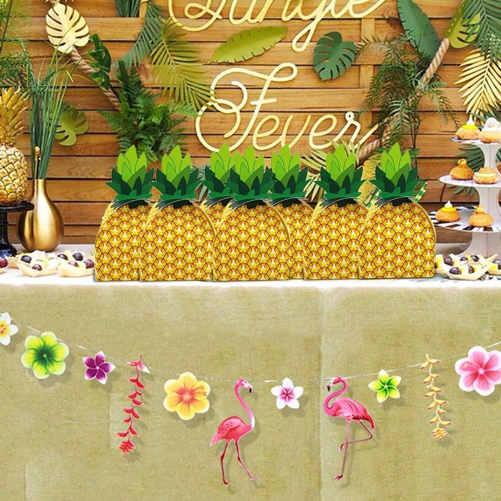 10 unidades de cajas de dulces cajas de regalo papel Piña Bolsa de Regalo para Boda Partido Decoración, Baby Cumpleaños, novios Caja de cartón de mesa ...