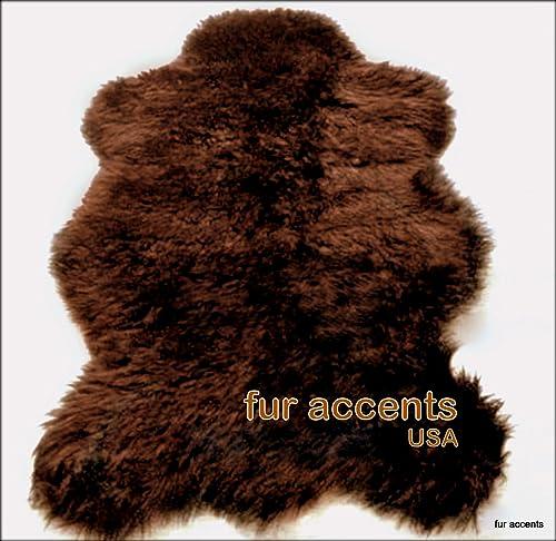 Fur Accents Faux Fur Russian Brown Bear Rug Large 5 X 7