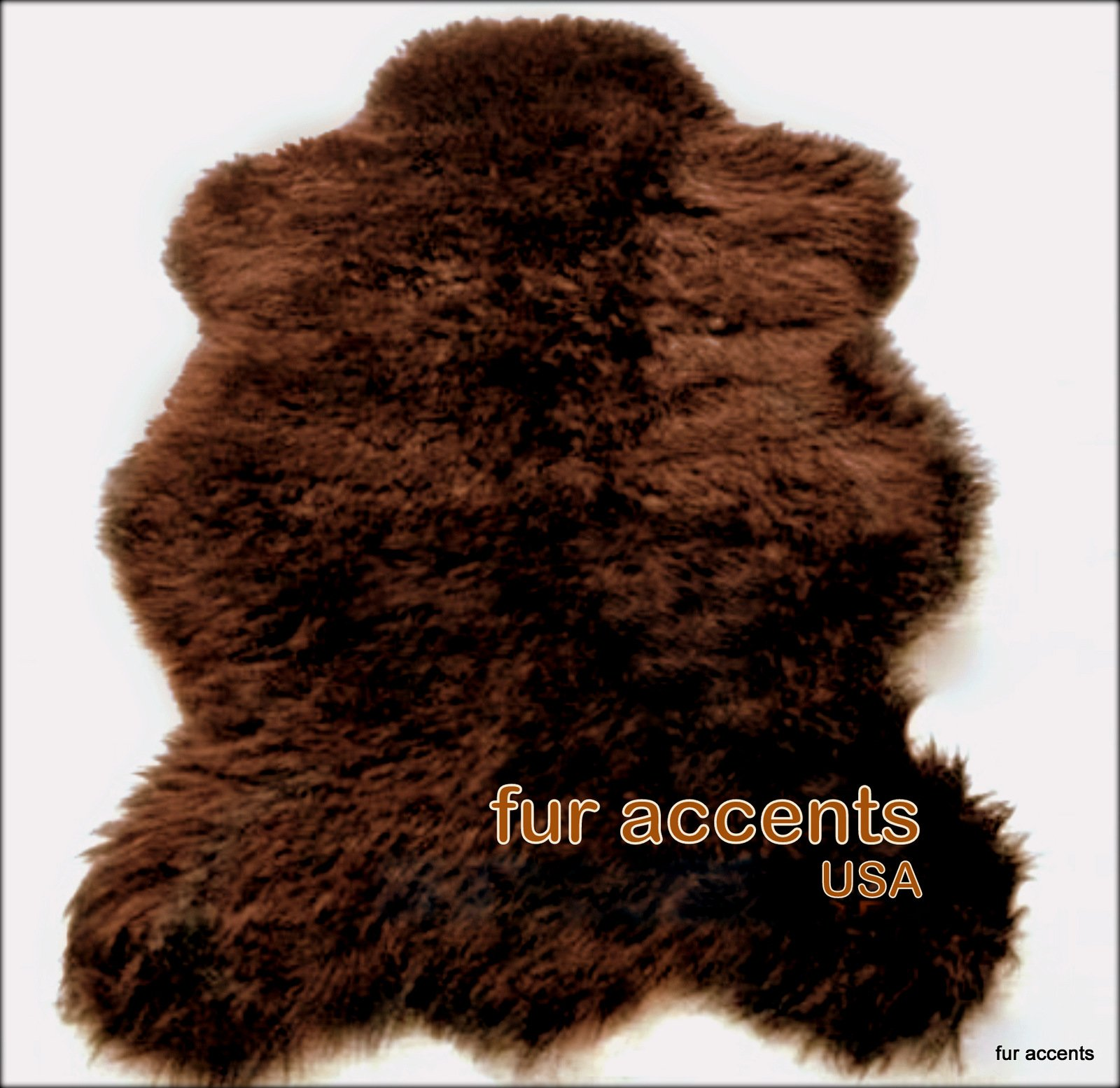 Fur Accents Faux Fur Russian Brown Bear Rug (Large 5 X 7)