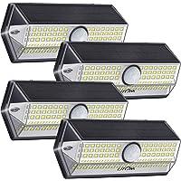 Luz Solar Exterior【Súper Brillante 4 Modos】con Sensor de Movimiento, LITOM Focos LED Exterior, IP67 Impermeable 100LEDs…