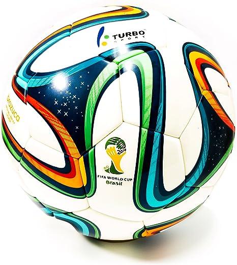 Turbo Sport Réplica de balón de fútbol FIFA 2014 Brazuca blanco ...