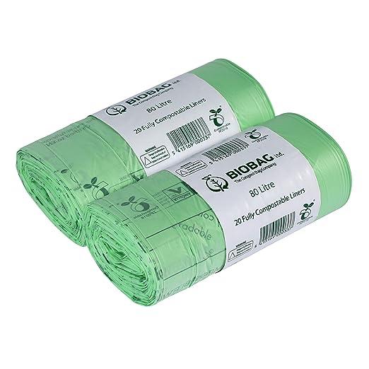 Bio Bag 80 litros x 40 Bolsas de Basura biodegradables ...