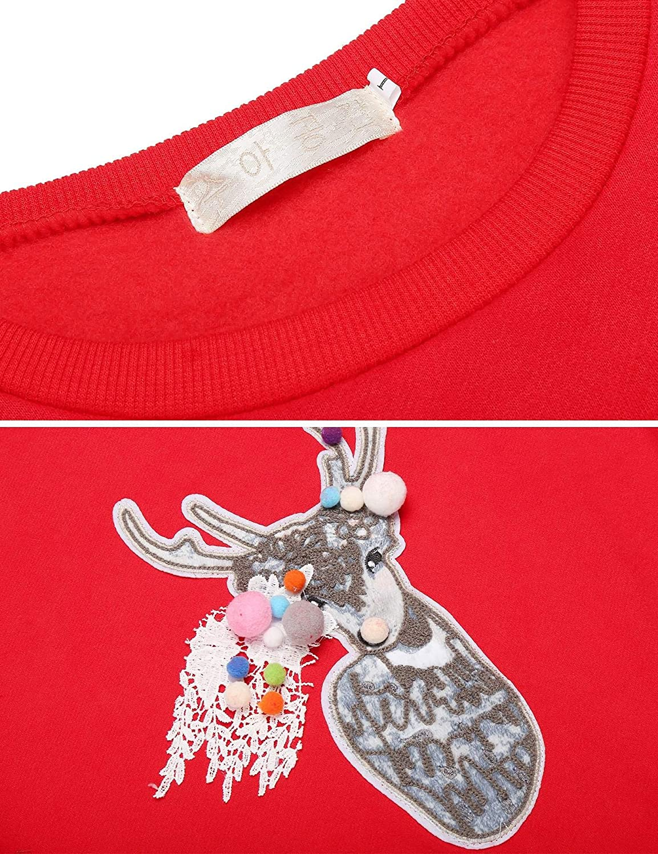 Kikole Women Casual O-Neck Long Sleeve Animal Printing Thicken Pullover Sweatshirt Fashion Hoodies