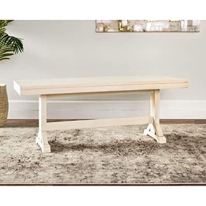 Amazon.com - Overstock 48-inch Millwright Wood Dining Bench ...