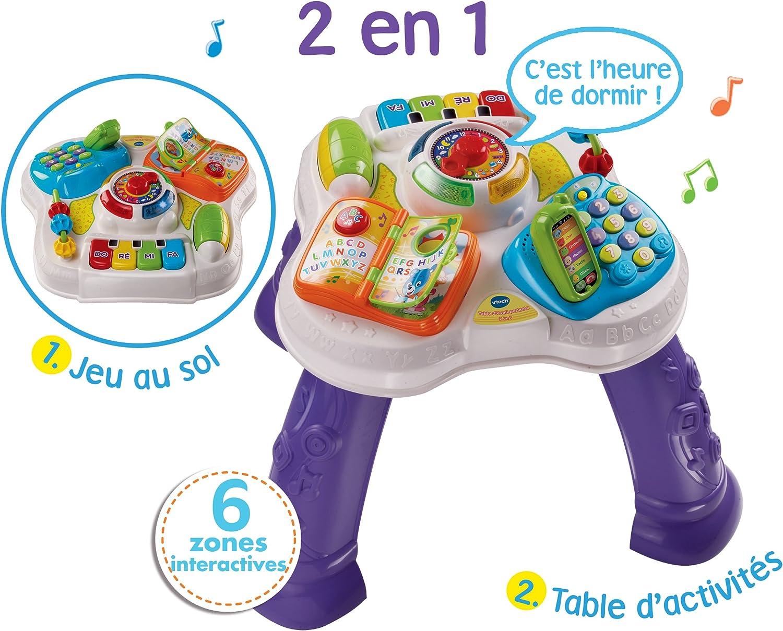 Fran/çais VTech Table d/'/éveil parlante 2 en 1