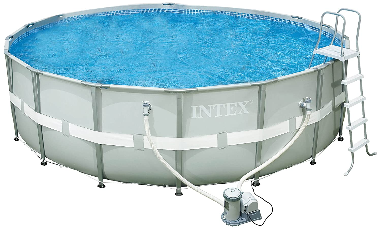 amazoncom intex 18 foot by 52 inch ultra frame pool set garden outdoor - Intex Pools