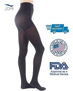50bb67d7eb98d8 Jomi Compression Pantyhose Women Collection, 20-30mmHg Opaque Closed Toe  274 (Medium,