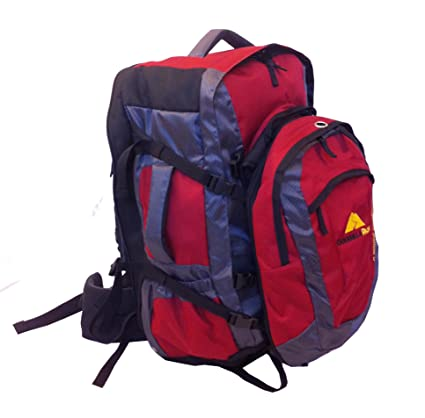 Guerrilla Packs Airporter Travel Backpack Duffel Hybrid with Detachable Daypack (Red, 50-Liter