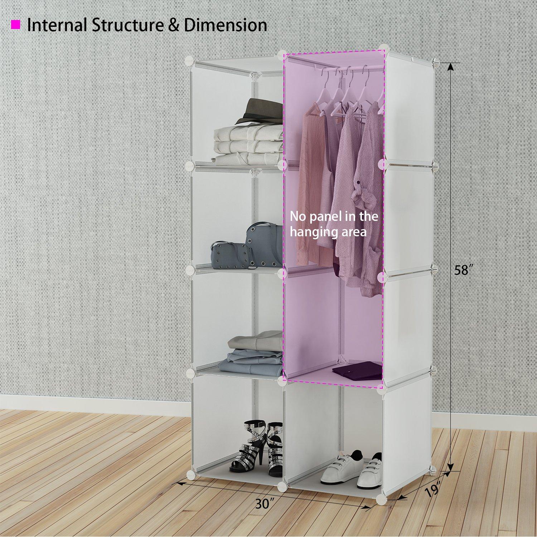 Tespo Portable Closet for Hanging Clothes Armoire Wardrobe for