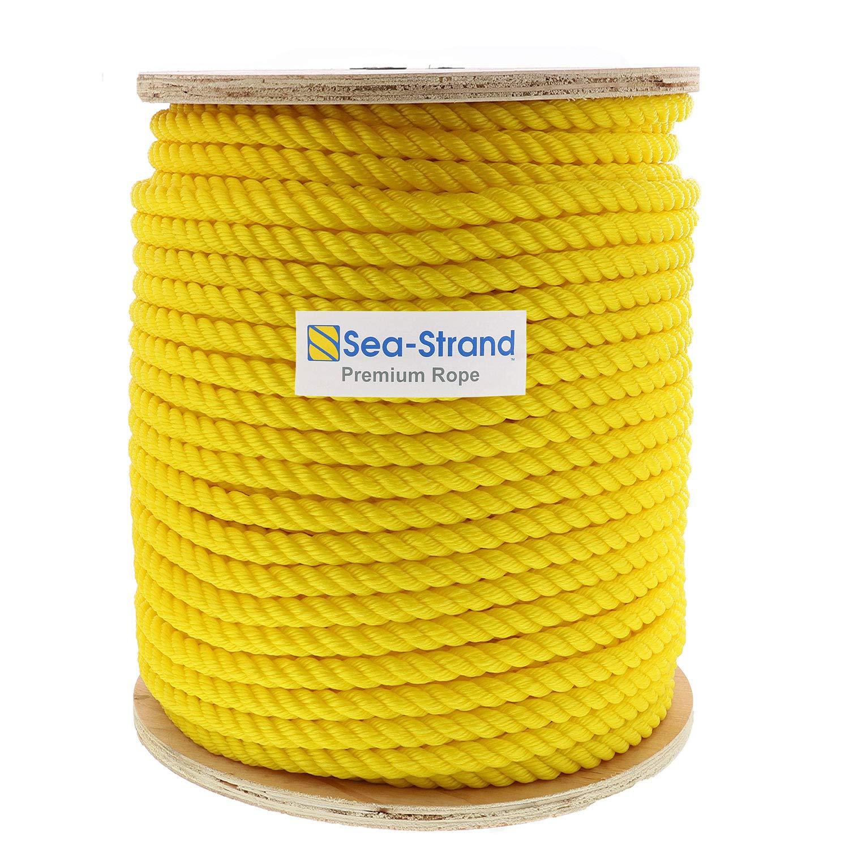 Sea-Strand 3/4'' x 600' Reel, Yellow, 3-Strand Polypropylene Rope