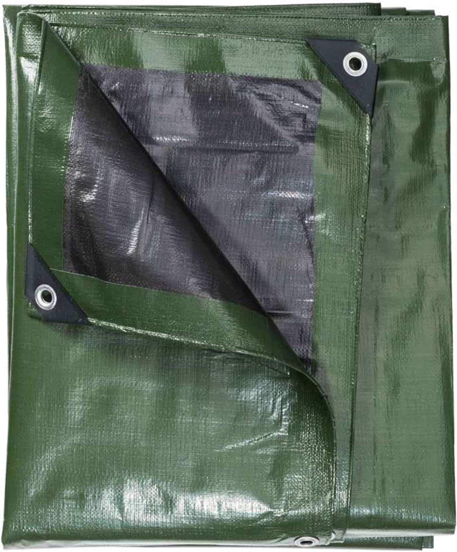 Lona multiusos 240 g//m/², 5 x 8 m Werkapro color negro y verde