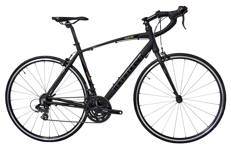 Tommaso Fascino – Sport Performance Aluminum Road Bike, Shimano Tourney, 21 Speeds, Matte Black