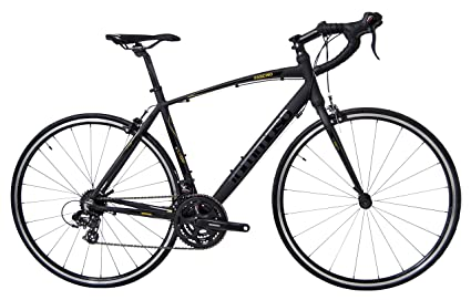 Tommaso Fascino - Sport Performance Aluminum Road Bike, Shimano Tourney, 21 Speeds - Black/Yellow - Small best racing bike