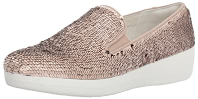 c5badac89 FitFlop Womens Superskate with Sequins Slip-On Loafer
