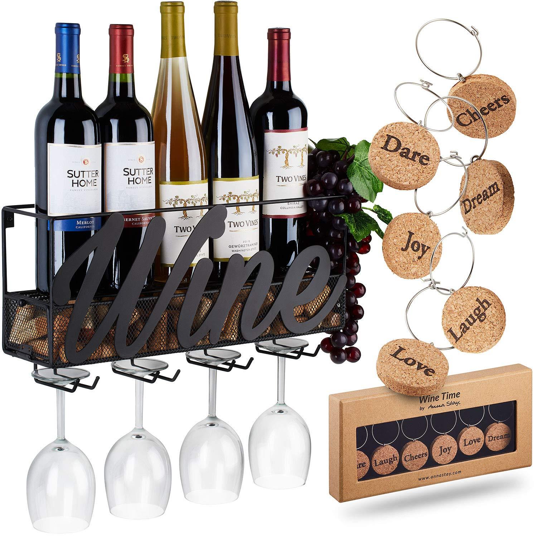 Amazoncom Wall Mounted Wine Rack Bottle