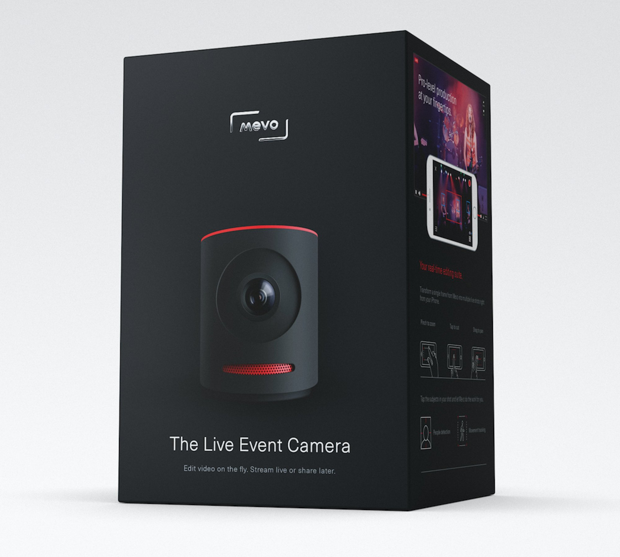 Mevo - Live Event Camera for select Android and iOS devices- Black by Mevo