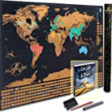 Scratch Off World Map Glossy Black Edition W Outlined Canadian Provinces Us
