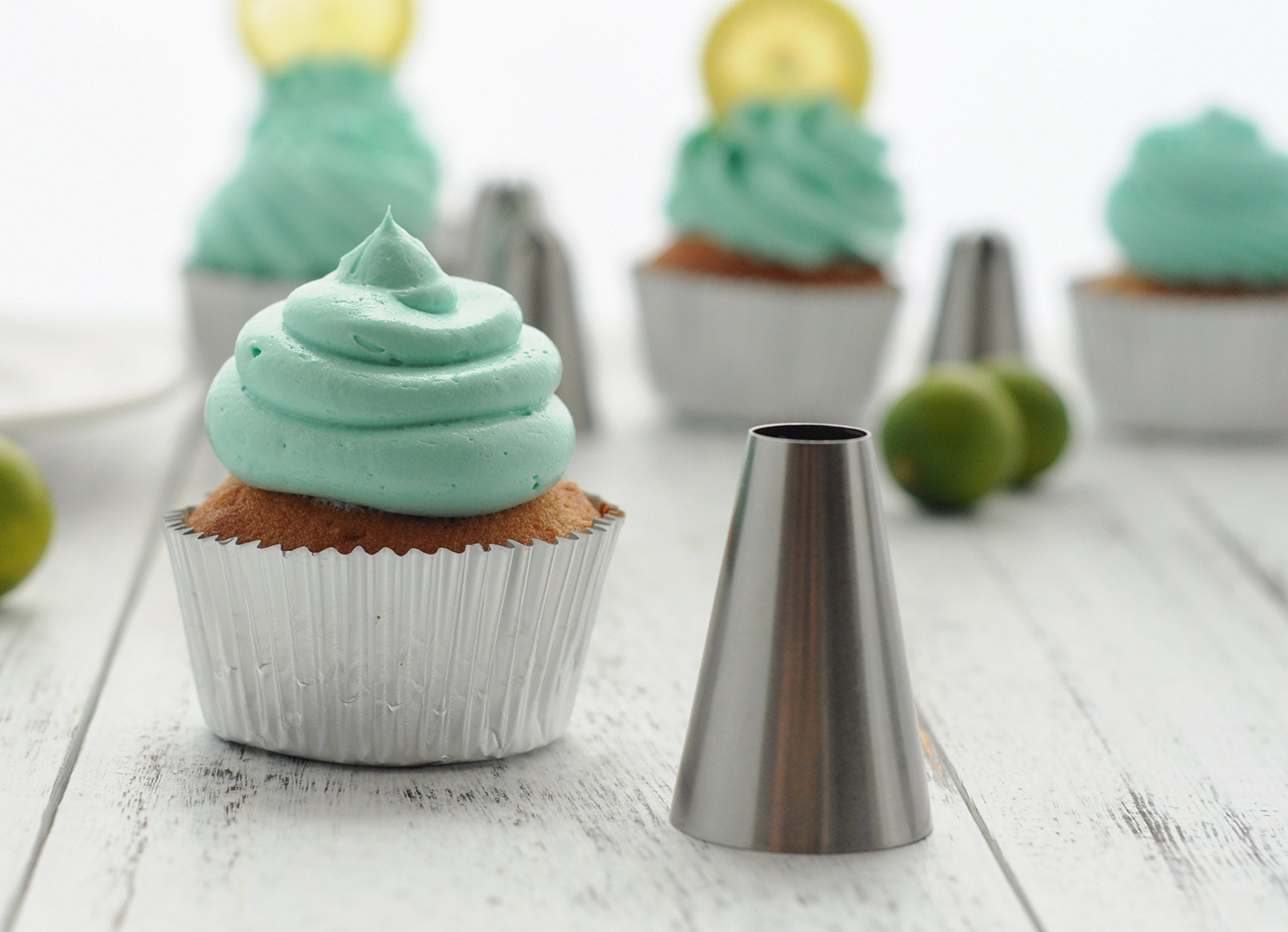 BeBeFun 304 Stainless Steel Extra-Large/Jumbo Classical Cup Cake Piping Icing Decoration Tips Set. 4 Jumbo Size + 2 Large Size In Set. by BeBeFun (Image #6)