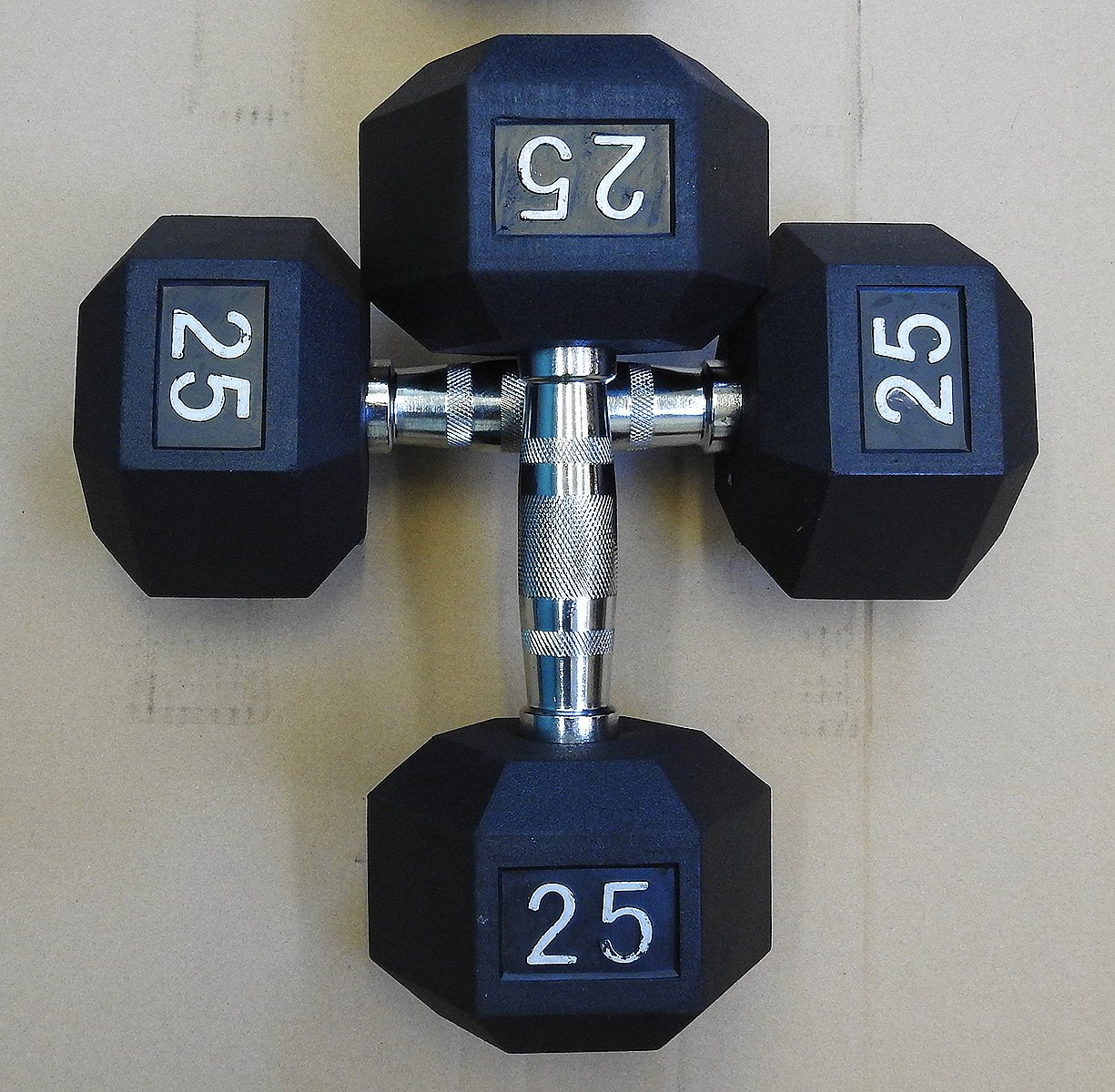 New York Barbells Premium Quality, Rubber Coated Hex Dumbbells For Strength Training and Fitness (Sold in Pairs)