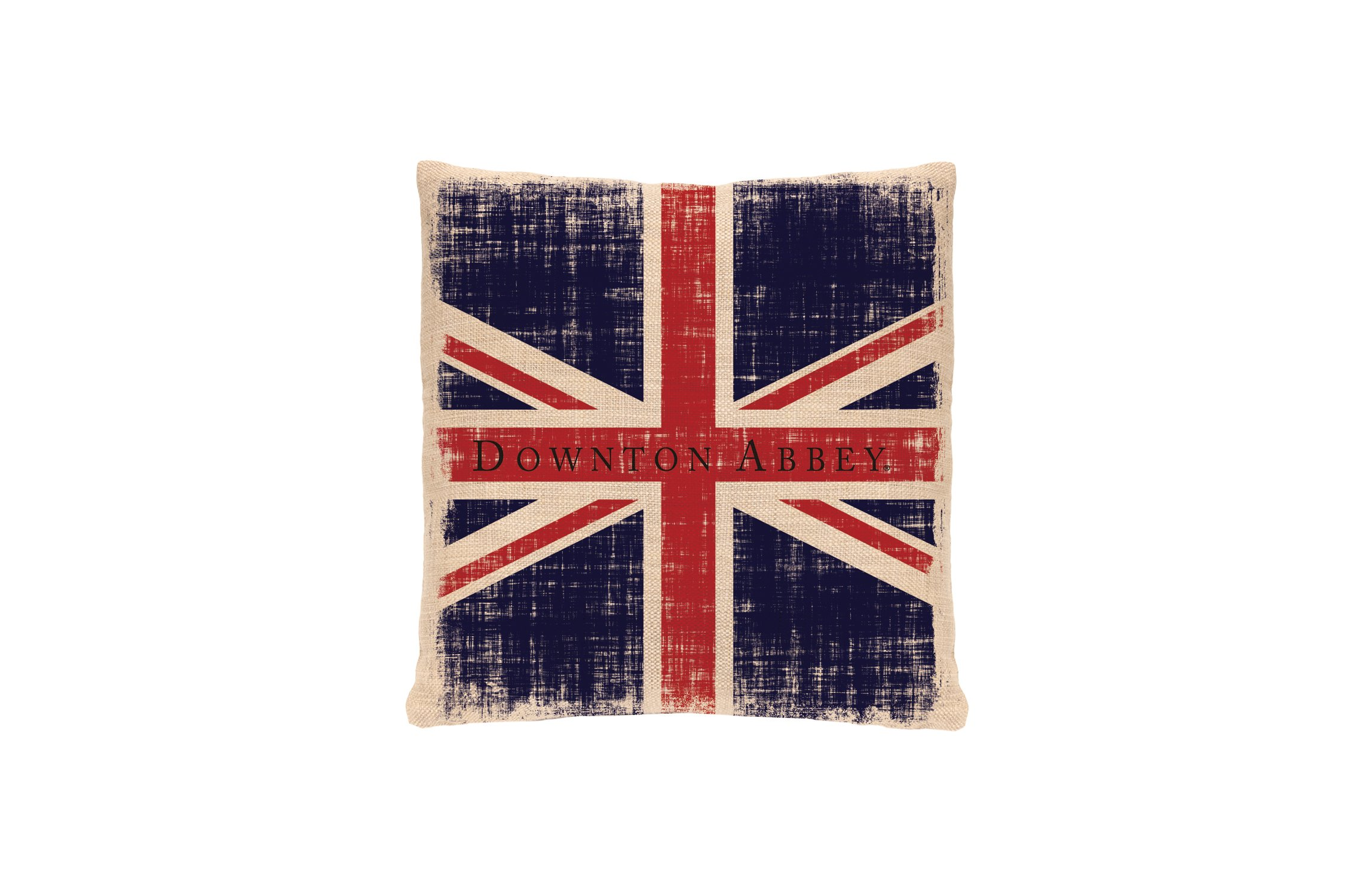 Heritage Lace Downton Abbey Downton Union Jack Pillow, 18 by 18-Inch, Natural