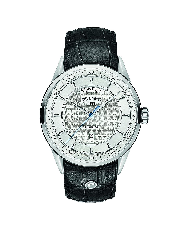 Roamer Herren-Armbanduhr SUPERIOR DAY DATE Analog Quarz 508293 41 15 05