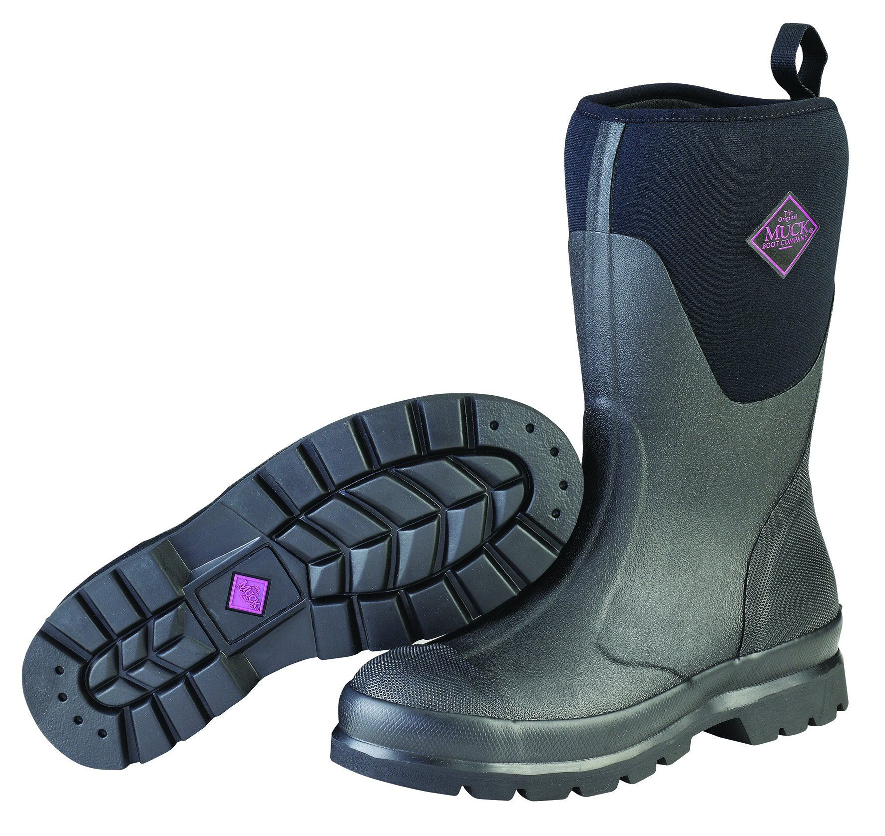 Muck Boot Women's Chore Mid Snow Boot, Black, 8 B US