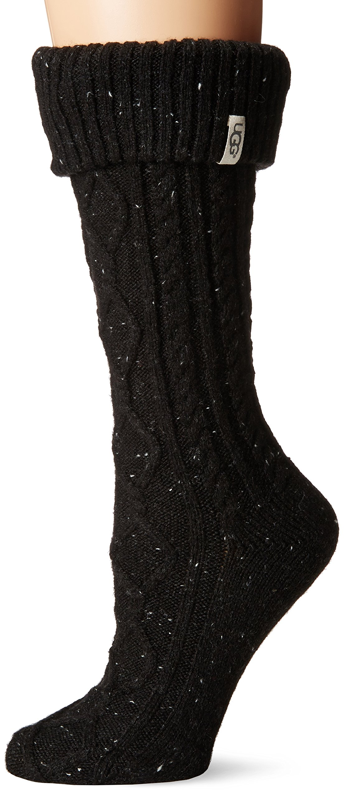 UGG Women's Shaye Tall Rainboot Sock, black, O/S by UGG