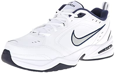 Nike Men's Air Monarch Iv White Slvr Multisport Training Shoes-10 UK India b5baec269735