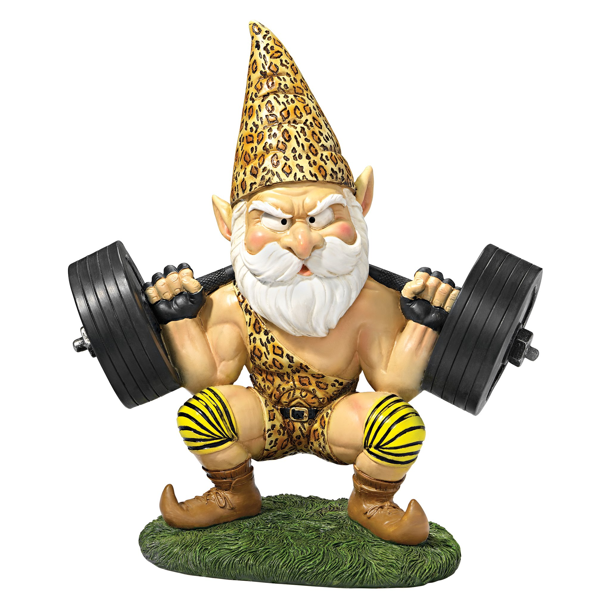 Design Toscano Garden Gnome Statue - Atlas the Athletic Weightlifting Gnome - Outdoor Garden Gnomes - Funny Lawn Gnome Statues
