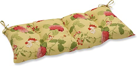 Pillow Perfect Indoor Outdoor Risa Lemonade Swing Bench Cushion Gold 44 X 18 5 Home Kitchen