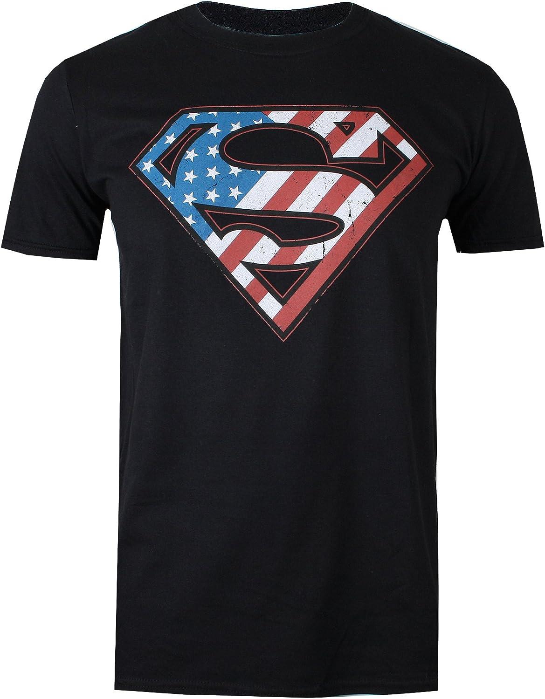 DC Comics Superman Flag Sudadera con Capucha para Hombre