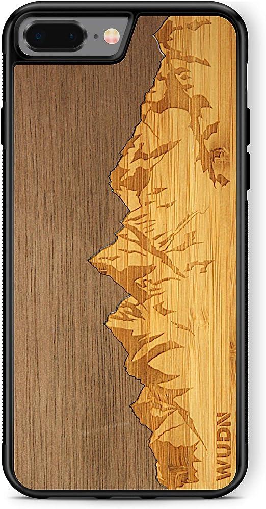Coque en bois compatible avec iPhone 7 Plus, iPhone 8 Plus