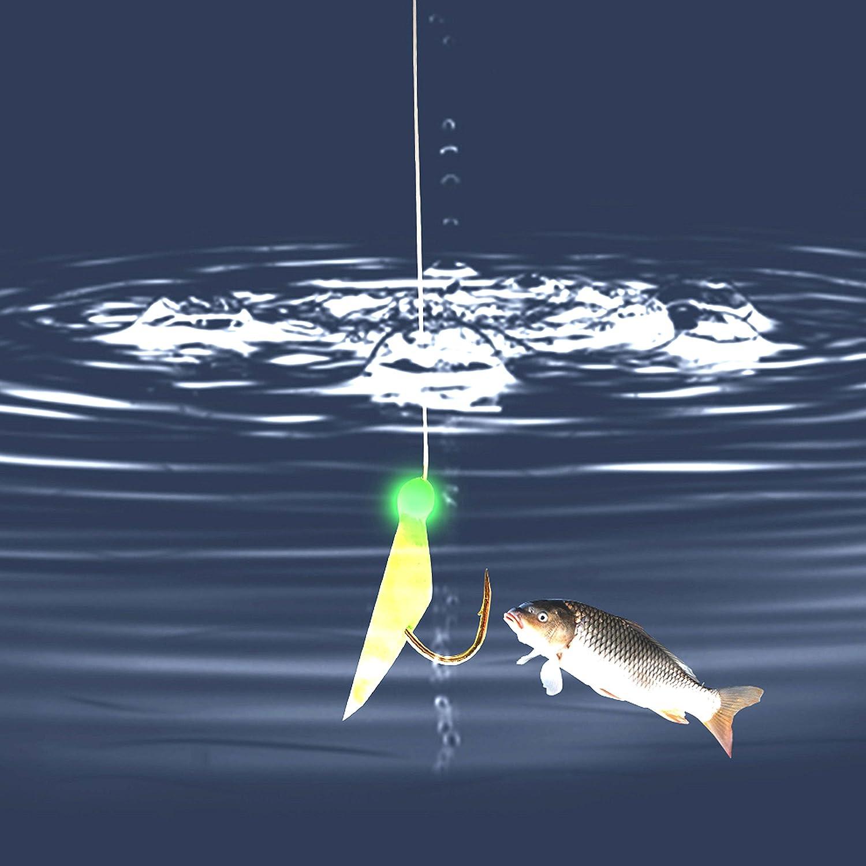 Sabiki Fishing Rigs Bait Lures Freshwater Saltwater Sea Sabiki Rigs Glow Rigs Fish Skin//Feather Hooks Size #4#6#8 Shaddock