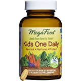 MegaFood - Kid's One Daily, Multivitamin Support for Healthy Growth and Development without Artificial Sweeteners or Food Coloring, Vegetarian, Gluten-Free, Non-GMO, 30 Mini-Tablets (FFP)