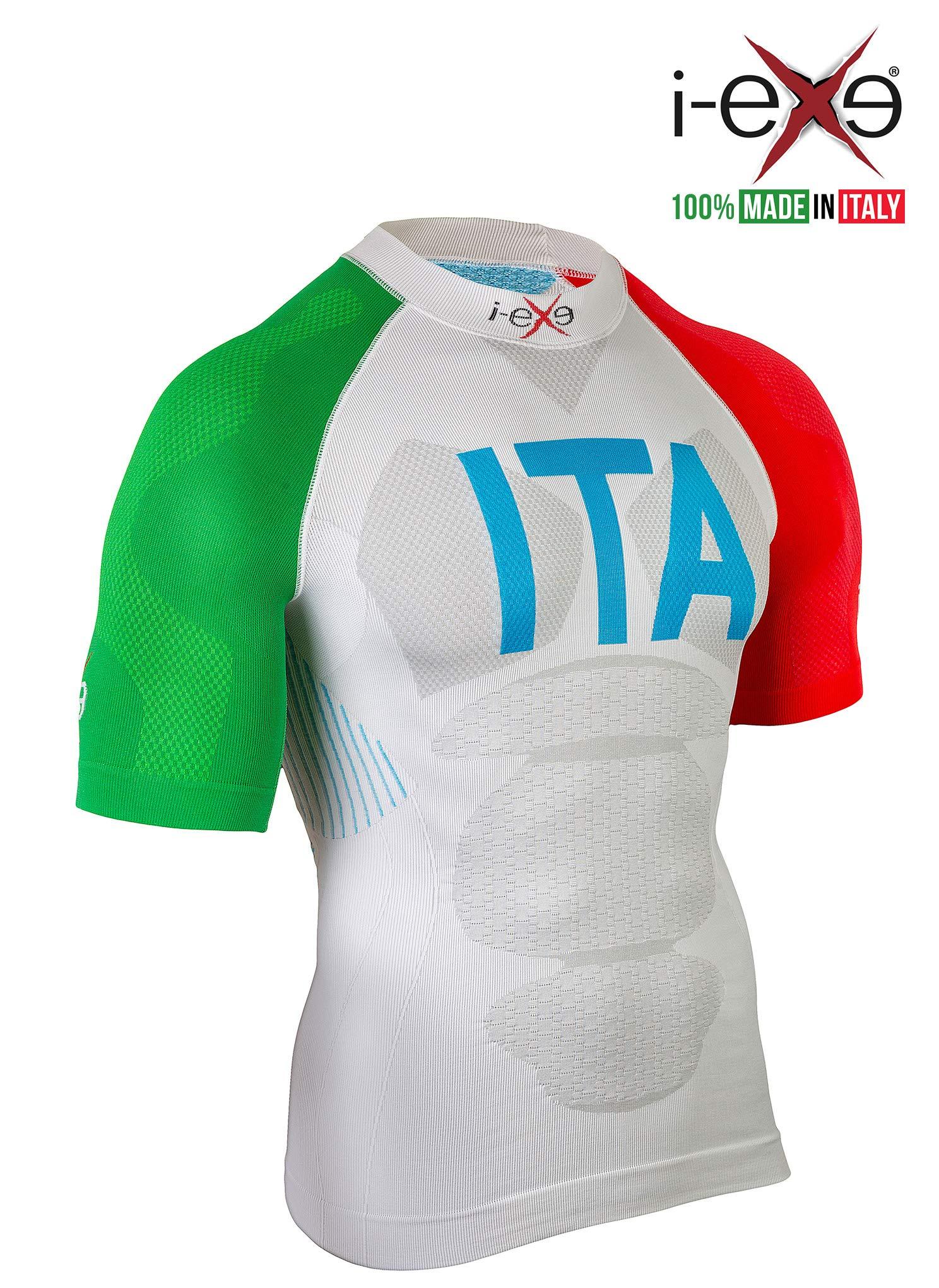 I-EXE Mens T-Shirt. Color: Italica Tricolor, Small/Med