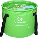 Premium Compact Collapsible Bucket By Freegrace - Portable Folding Water Container - Lightweight & Durable - Includes Handy Tool Mesh Pocket - Available In Multiple Colors & Sizes