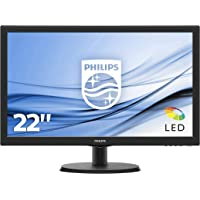 "Philips Monitor 223V5LSB2 Monitor per PC Desktop 21,5"" LED, Full HD, 1920 x 1080, 5 ms, VGA, Attacco VESA, Nero"