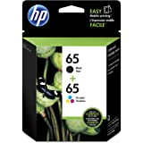 HP 65 Black & Tri-color Original Ink Cartridges, 2 Cartridges (T0A36AN)