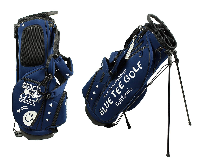 ブルーティーゴルフ BLUE TEE GOLF California 【スタンド キャディーバッグ CB-003】最新モデル 9型 B0741XK24G  ネイビー