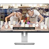 "Dell  U2414H UltraSharp - Monitor para PC Desktop  23.8"" (1920 x 1080p, 250 cd/m2, IPS, 8 ms, HDMI, DisplayPort) color negro y plateado"