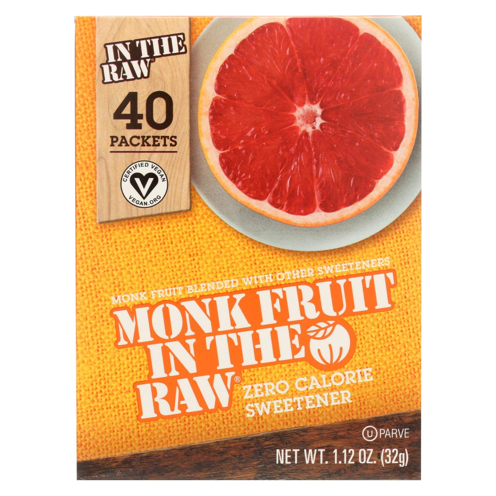 Sugar In The Raw Monk Fruit In The Raw - 40 per pack - 8 packs per case. by Sugar in the Raw