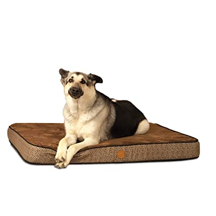 "K&H Pet Products Superior Orthopedic Pet Bed Medium Mocha Paw/Bone Print 30"" ..."
