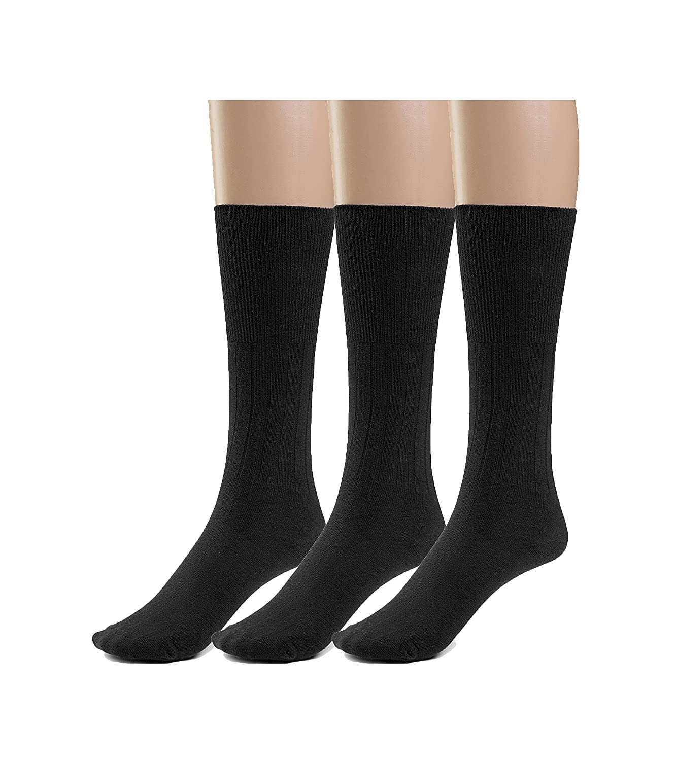 1c66b15c2237 Amazon.com: Silky Toes 3 or 6 Pack Women's Diabetic Premium Soft  Non-Binding Cotton Dress Socks, Also Available In Plus Sizes: Clothing