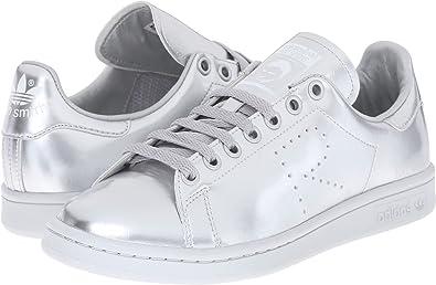 Alegrarse táctica Inyección  Amazon.com   adidas by RAF Simons Unisex-Adult RAF Simons Stan Smith,  Silver Met/Silver Met/Silver Met, 9   Fashion Sneakers