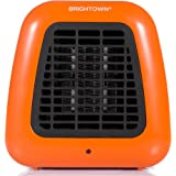 Personal Ceramic Portable-Mini Heater for Office Desktop Table Home Dorm, 400-Watt ETL Listed for Safe Use, Orange