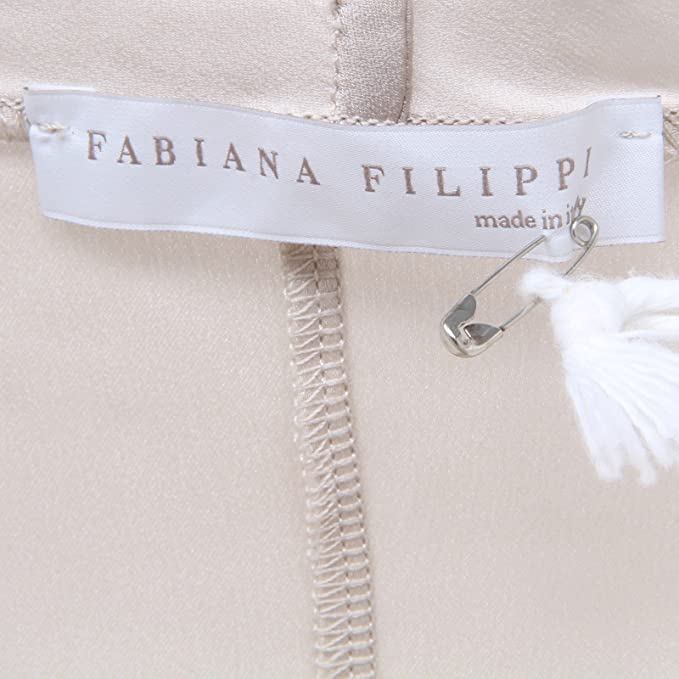 FABIANA FILIPPI D1506 Canotta Donna Seta Beige Silk t-Shirt Sleeveless Woman [46]: Amazon.es: Ropa y accesorios
