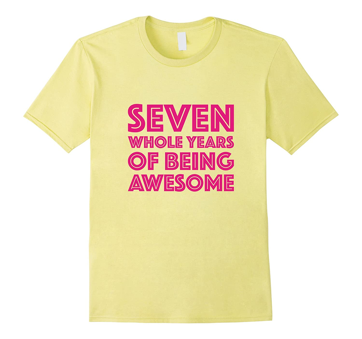 4fadfd604a 7th Birthday Shirt Gift Girls Age 7 Seven Year Old Girl Tee-RT ...