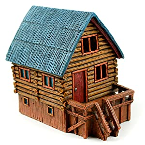 Touch of Nature 55720 Fairy Garden Led Log Cabin, 5.5""